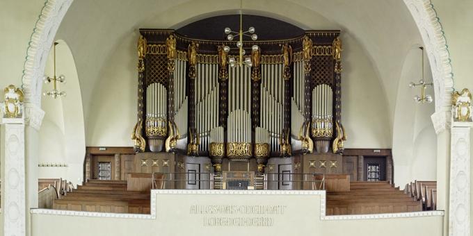 Dresden-Strehlen, Christuskirche, 3 Manuale 63 Register, Gebr. Jehmlich 1905, Restaurierung 2015