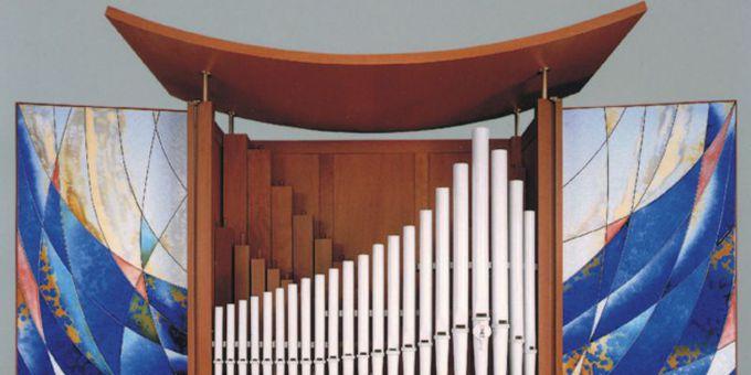 Meißen, Orgelpositiv mit Meissner Porzellanpfeifen, 1 Manual 4 Register, 2000 (opus 1140)