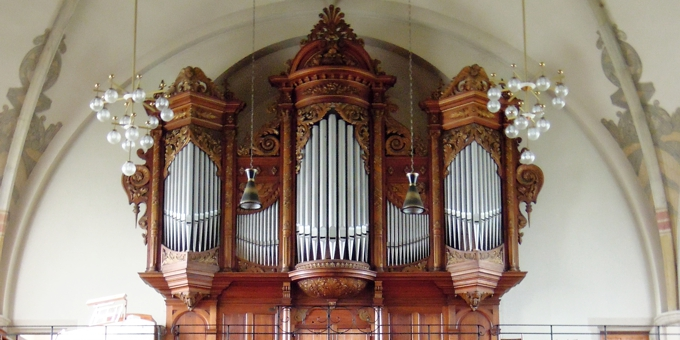 Coswig, Ev. Luth. Peter-Pauls Kirche, 3 Manuale 43 Register, Gebr. Jehmlich 1903, Restaurierung 2015
