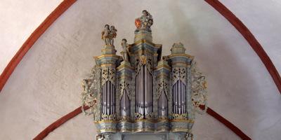 Dreilützow, Ev.-Kirche, 1 Manual 6 Register, Erbauer unbekannt 1708, Restaurierung 2004