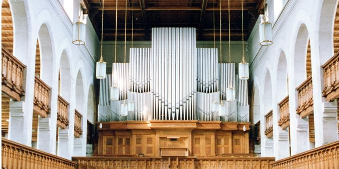 Radebeul-Kötzschenbroda, Ev. Friedenskirche, 3 Manuale 51 Register, Gebr. Jehmlich 1928, Rest. 2000