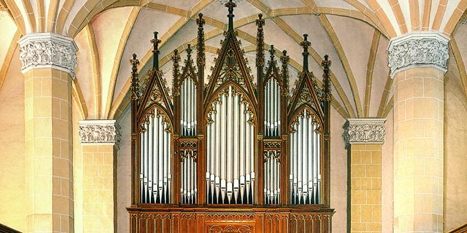 Dahlen, Evangelische Kirche, 2 Manuale 29 Register, 1866 (opus 45)