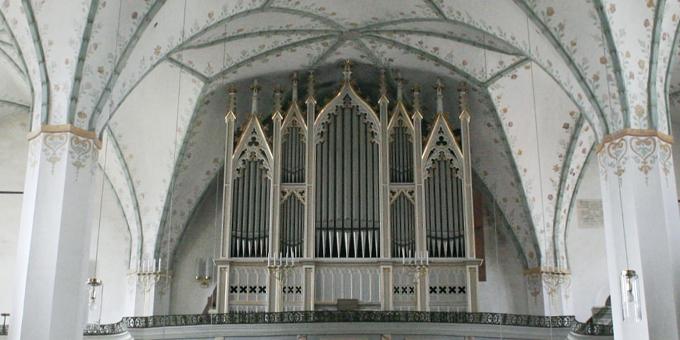 Dippoldiswalde, Ev. Stadtkirche, 2 Manuale, 30 Register, K. T. Stöckel 1865, Restaurierung 2015