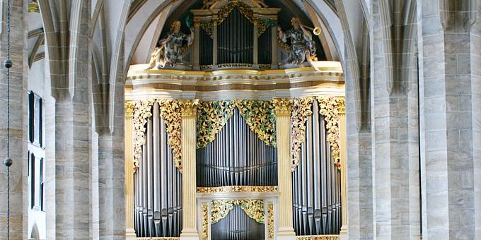 Freiberg  Dom, 3 Manuale 44 Register, G. Silbermann 1714, Restaurierung 2010