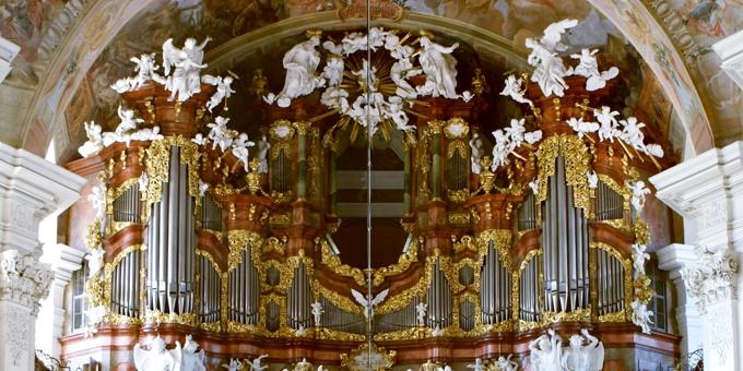 Grüssau / Polen, Maria-Himmelfahrt, 3 Manuale 50 Register, M. Engler 1736, Restaurierung 2008