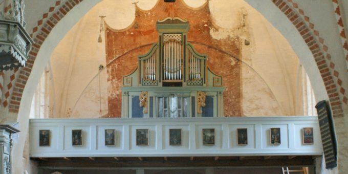Ruchow, Ev. Kirche, 1 Manual 5 Register, J. Richborn 1675, Restaurierung 2015
